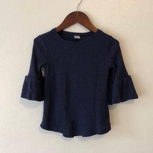 Old navy flutter sleeve top in navy blue